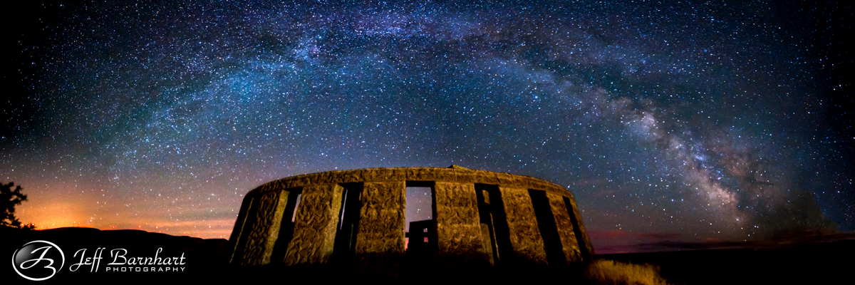 Milky Way over Stonehenge