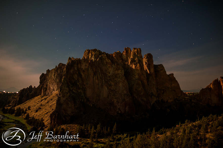 Smith Rock State Park at Night