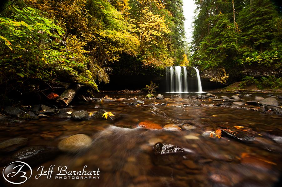 Butte Creek Falls in Autumn